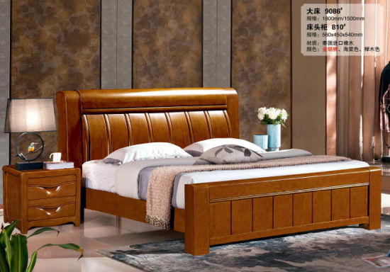 Hotel Bed, China Bedroom Furniture, Wooden Bed (9086) pictures & photos