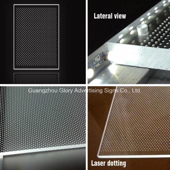 Laser Clear LED Light Acrylic Panel/LED Light for Light pictures & photos
