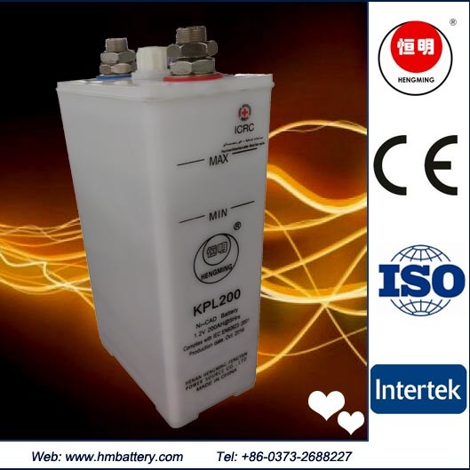 Industry Rechargeable Deep Cycle Kpl200 Ni-CD Pocket Storage Battery Emergency Light Power Backup Power Station Battery