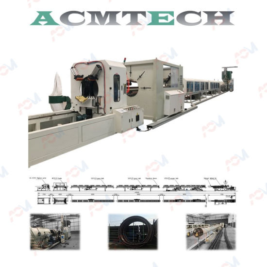 Acm Plastic HDPE PE PP PPR UPVC PVC Water Pipe Supply Drainage Electric Conduit Pipe Hose Tube Extrusion Production Single Wall Corrugated Pipe Making Machine