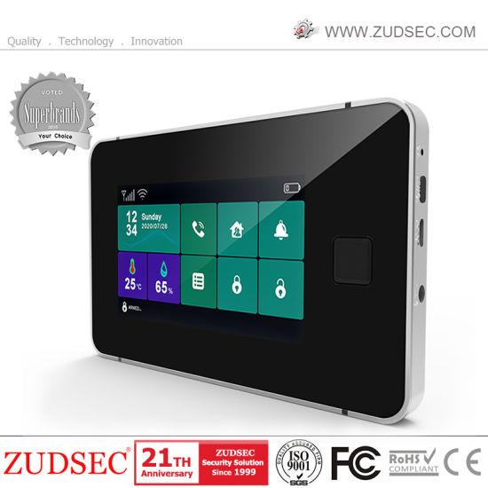 2021 Newest Fingerprint Anti-Thief Wireless WiFi/GSM Intruder Home Security Burglar Alarm System with IP Camera
