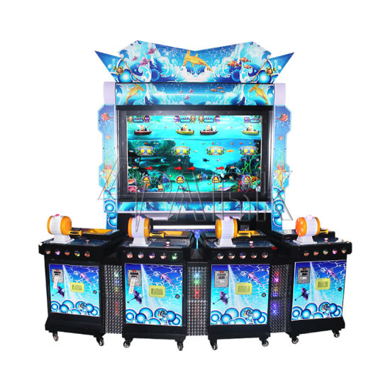 "4 People Fishing Machine 55"" Inch Screen Fishing Slot Machine Game Mermaid Casino Supplier pictures & photos"