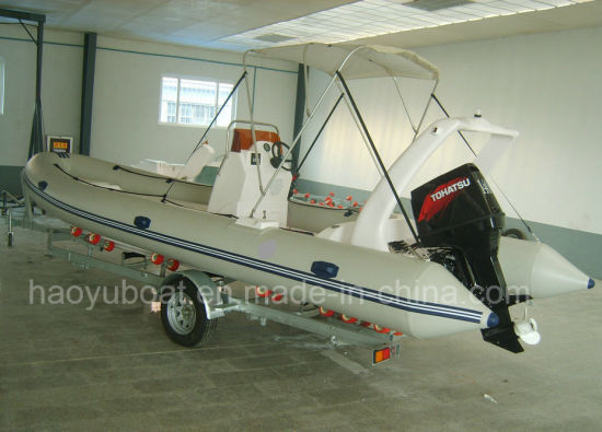 24feet Inflatable Rib730A Boat, Rescure Boat, Fishing Boat, Rigid Hull Boat, PVC or Hypalon