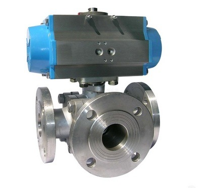 ASME Stainless Steel Cast Steel Multiport Ball Valve pictures & photos