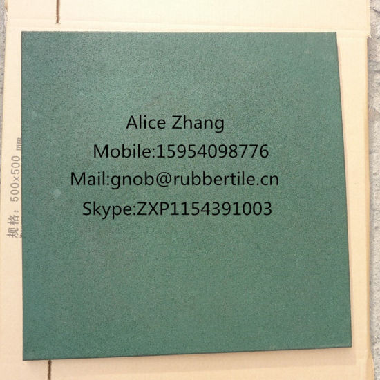 Rubber Flooring Tiles, Outdoor Playground Rubber Tiles, Rubber Gym Floor Tiles pictures & photos