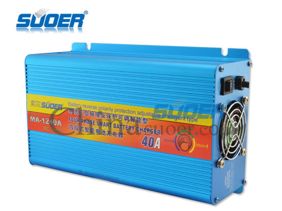 Suoer RoHS Approved 40A 12V Universal Automatic Battery Charger (MA-1240A) pictures & photos