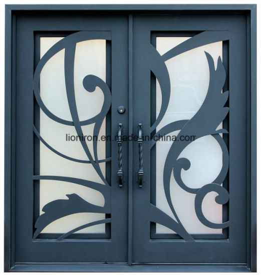 Artistic Hand Made Iron Entry Door From Factory