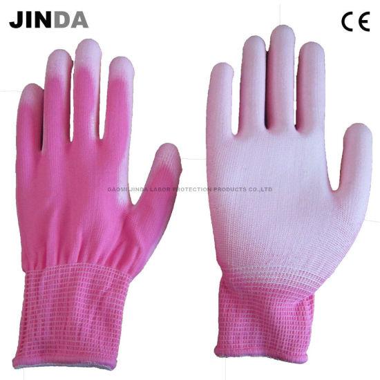 Nylon Shell PU Coated Electronic Safety Work Gloves