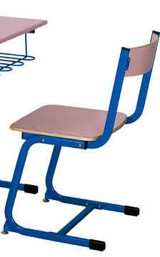 Pink Color Popular Classroom Single Desk and Chair/School Furniture (FS-3212) pictures & photos