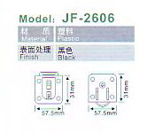 Jf-2606 Cupboard Hardware Sliding Door Wheel Truckle Series pictures & photos