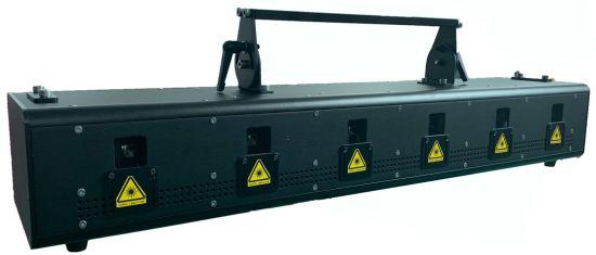 6*2W RGB Six-Head Color Laser Lamp Disco Lighting Stage Equipment