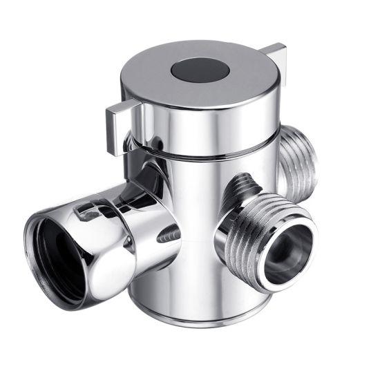 3 Way Adjustable Plastic Chrome Hand Shower Water Diverter /Adapter With  Bracket /Holder