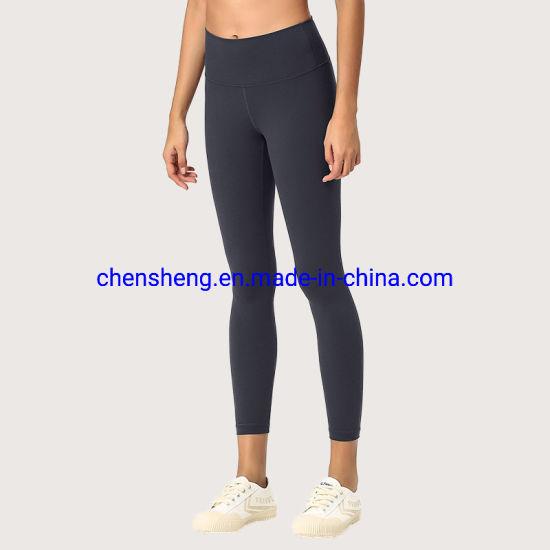 Women Gym Sports Fitness Yoga Wear with Pocket High Waisted Workout Pants Seamless Leggings Custom Logo