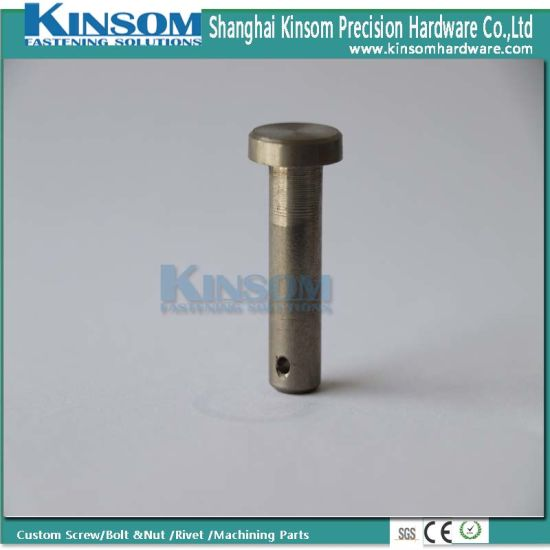 Customized Metal Fasteners Round Head Hole Pin Foundation Stud Bolt