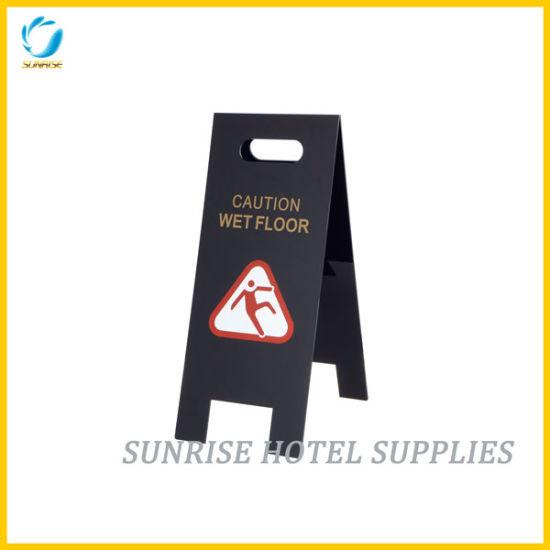 Acrylic Folding Cleaning Hotel Wet Floor Warning Sign