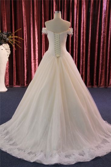 off Shoulder Lace Prom Gown Evening Bridal Dress for Wedding pictures & photos