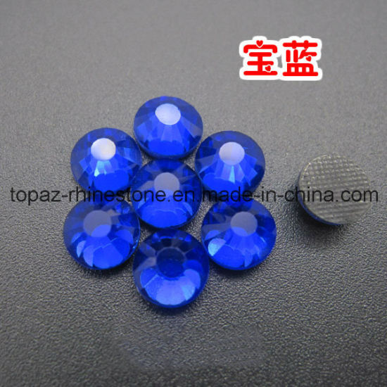 Wholesale Flat Back World Stone DMC Hot Fix Rhinestone for Decoration  (HF-ss20 sapphire 586a1a43d430
