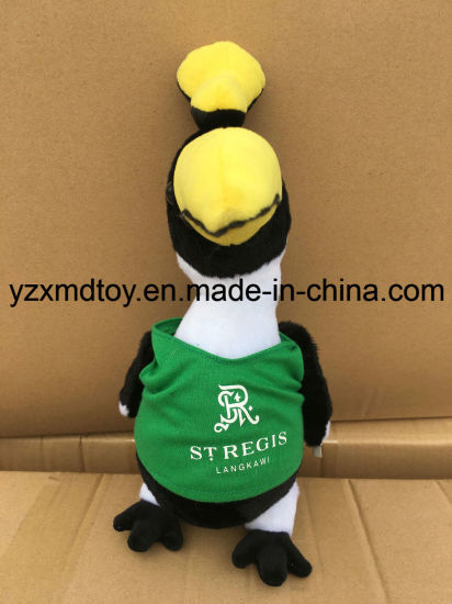 Plush Souvenir Stuffed Black and White Bird Toy with T-Shirt pictures & photos
