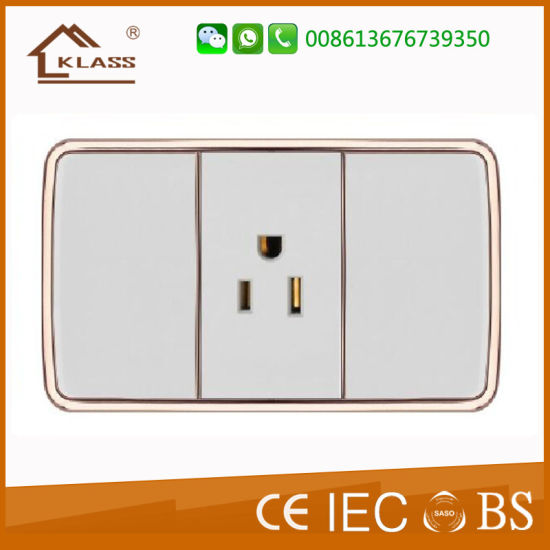 Good Quality American Standard Wall Socket 2pins Manufacturer Sale pictures & photos