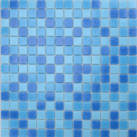 China Foshan Swimming Pool Small Blue Glass Mosaic Tiles For - Small-blue-bathroom-tiles