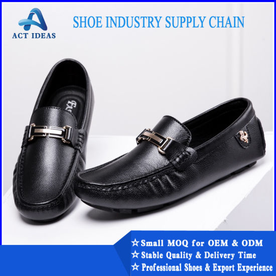 China Men Cow Leather Slip-on Loafers