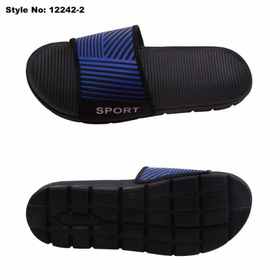 Men EVA Sole Fabric Upper Outdoor Open Toe Slipper pictures & photos
