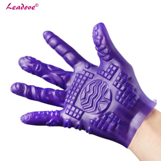 Massager Gloves Waterproof Soft Glove Silicone Erotic Sex Products Sex Toys for Couples Adult Products Xn0117 pictures & photos