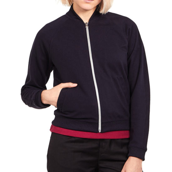 Lightweight Polyester Tricot Women's Track Jacket with Custom Logo