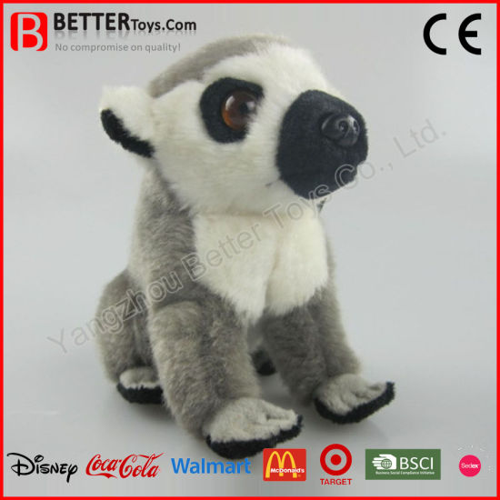 China Realistic Soft Ring Tailed Lemur Plush Stuffed Animal Toy For