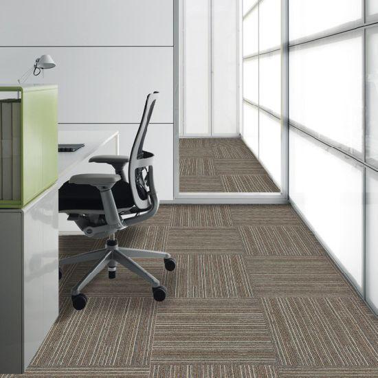 Impress   1/10 Gauge Flat Loop Office Flooring Carpet Tile With Bitumen Back