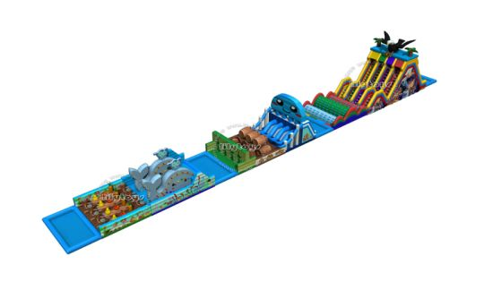Inflatable Obstacle Toys Long Length Customized Design