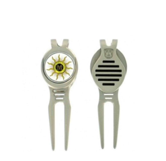 Eco-Friendly Wholesale Metal Iron Gift Aluminum Golf Switch Blade Divot Tool for Golf Use with Custom Laser Engraving Logo (004) pictures & photos