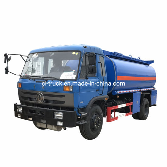Best Price Dongfeng 4X2 Type 10m3 12m3 15m3 Plastic Diesel Gasoline Fuel Tank Truck with Fuel Nozzle