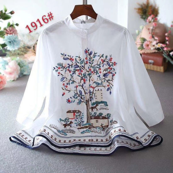 Casual with Flower Patten Fashion Shirt of Women Clothing