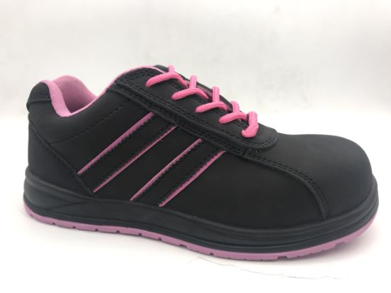 Lady Suede Leather with Composite Toe-Cap and Kevlar Middle Sole Safety Shoes/Safety Footwear Ax06003