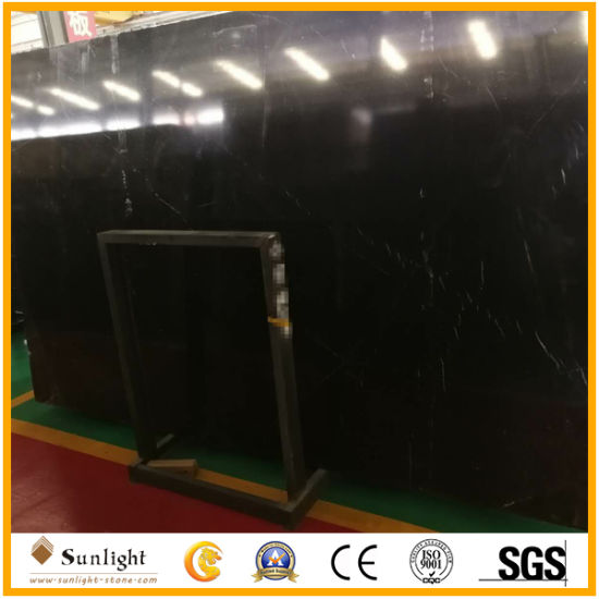 Natural Nero Black Marquina Marble/Stone Slab for Kitchen/Bathroom/Wall/Floor