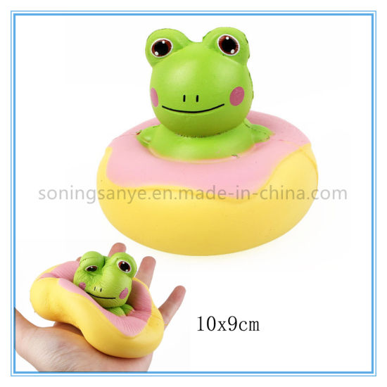 DTY0093 Frog Design PU Foam Toy Doll for Children