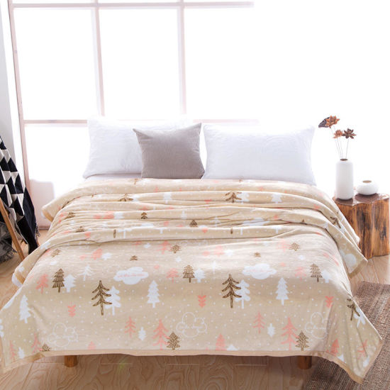 Factory Price Wholesale Solid Flannel Fleece Cheap Blanket Throw pictures & photos