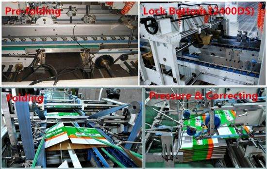 Benefold Automatic Folder Gluer Machine for Double Pieces (2400D/DS) pictures & photos
