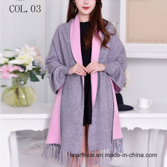 Winter Warm Poncho Scarf Women′s Coat Luxury 2018 Sleeve Shawls and Wraps  for Ladies Pashmina Stoles Thick Poncho Feminino Capes