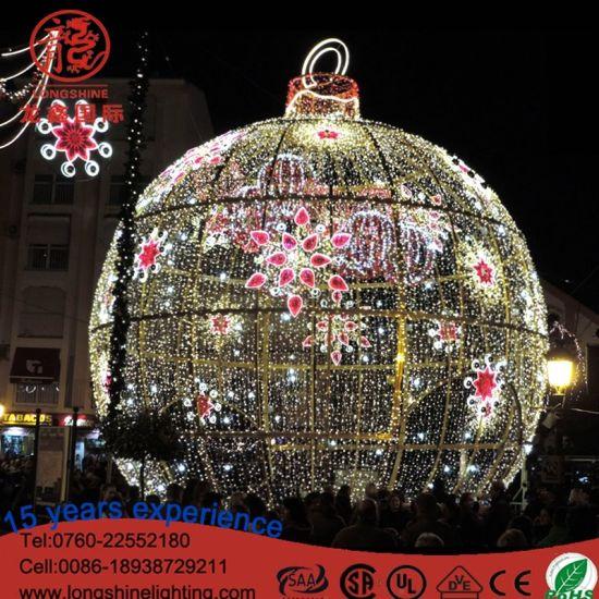 Giant Orbicular 3D Motif LED Light Huge LED Ball for Christmas Outdoor Decoration