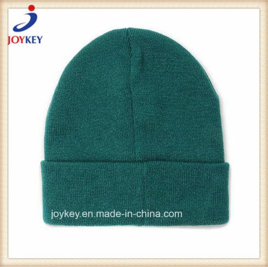 Fashion Customized 100% Acrylic Knitted Beanie Hat