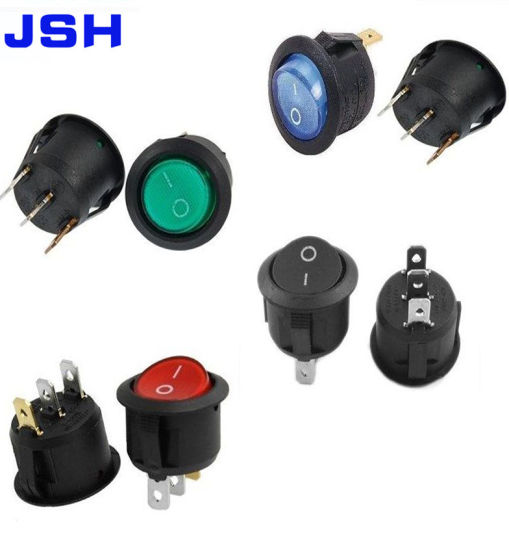 ON-OFF-ON 10a Round Rocker Switches 2 x Waterproof SPDT 3-Pin