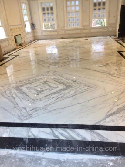 Italy White/Statuary Bookmatch Wall/Floor Interior Decorative Natural Marble Tiles Australian/Standard/Big/Size pictures & photos