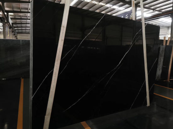 Chinese Black Marquina Black and White Marble Slabs and Tiles