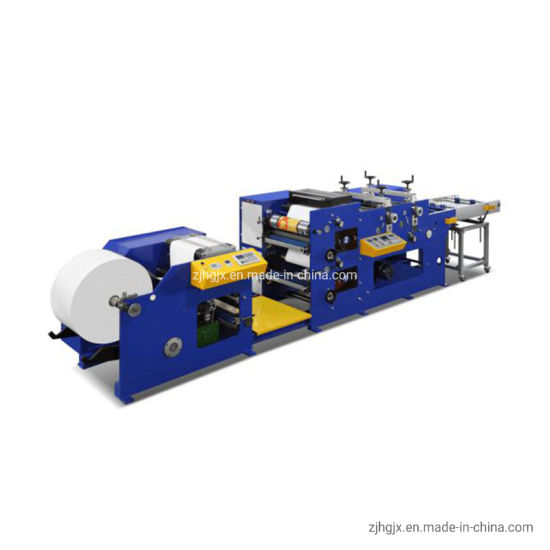 2 Color Food Paper Box Hamburger Box Medicine Box Flexo Printing Machine with Two Rotary Die Cutting Station Cutting Sheets