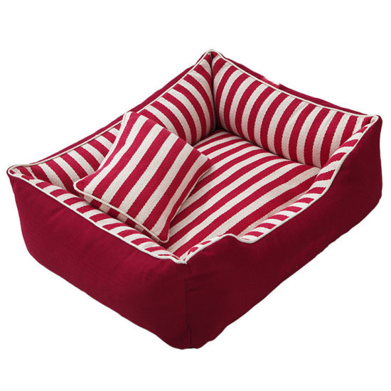 Hot Sale Oxford and Suede Material 100% PP Cotton Comfortable Dog Sofa Bed Pet Lounge