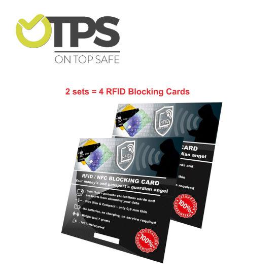 Custom RFID Scanners Guard Card RFID Blocking Card Blocking Chip