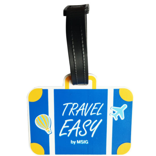 Cmyk Printing Luggage Tag Airport Baggage Luggage Tags 2PCS Card Style Custom PVC Luggage Tag