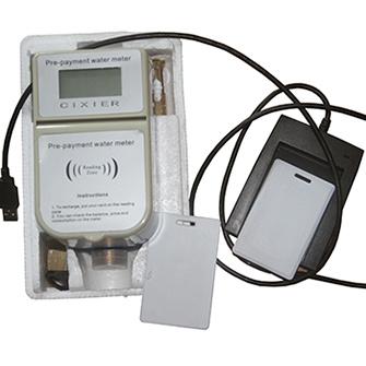 DN15-20 Prepaid Water Meter with Softwarer IC Water Meter
